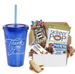 Custom Stainless Tumbler, Coffee & Cookie Basket