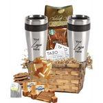 Custom Coffee,Tea and Tumbler Gift Basket