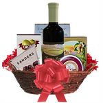 Custom Wine and Cheese Gift Basket