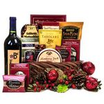 Custom Holiday Wine Gift Basket