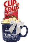 Custom 14 Oz. Soup-er Promo Gift Mug (Blue)