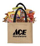 Branded Burlap Bag of Snacks