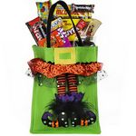 Custom Halloween Candy Tote Bag (Green)