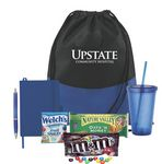 Custom THERMOS Tumbler & Snack Basket (Blue)