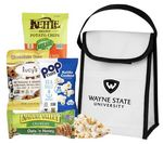 Custom Cooler filled with Healthy Snacks