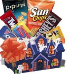 Custom Haunted House Halloween Candy Basket
