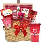 Custom Picnic Gift Basket w/Tumblers (Red)