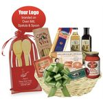 Custom Italian Gift Basket with Branded Accessories