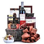 Custom Chocolates & Wine Gift Basket (Assorted)