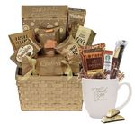 Custom Tumbler w/Basket of Snacks
