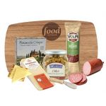 Cutting Board with Cheese, Crackers, Spread and more