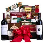 Custom Many Thanks Wine & Cookie Gift Basket