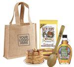 Custom Pancake & Syrup Breakfast Jute Tote