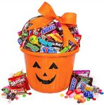 Custom Halloween Basket of Treats (Orange)
