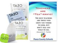 Teachers Inspirational Tea Gift