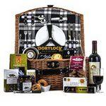 Custom Wine & Gourmet Picnic Gift Basket