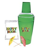 Happy Hour Cocktail Shaker Kit (Green)