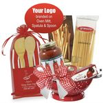 Custom Italian Theme Basket with Branded Accessories