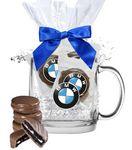 Custom Glass Mug with Chocolate Oreo's