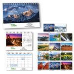 Custom Scenic World Desk Tent Calendar