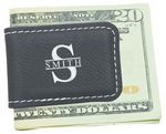 Custom Black Leatherette Magnetic Money Clip