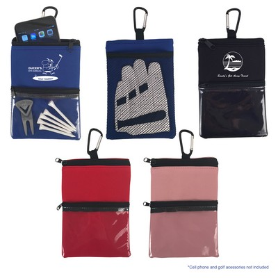 Golf Accessory Pouch with Carabiner