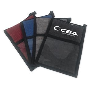Crosshatched Neck Wallet Badge Holder