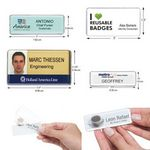 Custom Reusable Name Badges Rectangle - Assorted Sizes