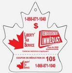 Custom Maple Leaf Shaped Detachable Coupon Air Freshener
