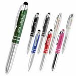 Custom Flasher Metal LED Touch Screen Stylus Ballpoint Pen