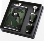 Custom 8 Oz. Camouflage Flask Gift Set