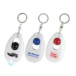 Stress Relieving Snap Ball LED Keychain