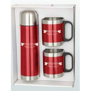 Stainless Steel Mug & Thermos Gift Set
