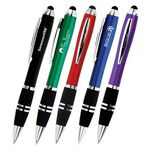 Custom Blitz Color Twist-Action Stylus Ballpoint Pen