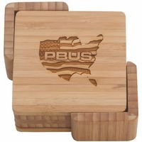 Square Bamboo Coasters Set of 4
