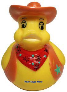 Custom Printed Cowboy Rubber Ducks!