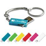 Custom USB 2.0 Nano Swing Drive LN Flash Drive w/ Aluminum Color Finish (4 GB)