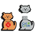 Custom USB 2.0 Cat Drive C9 Flash Drive (512MB)