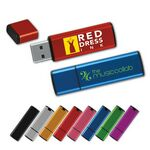 Custom Rectangle Anodized Aluminum Flash Drive AB (2 GB)