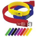 Custom USB 2.0 Wristband Drive WD Flash Drive (512 MB)