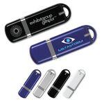 Custom USB 2.0 Rectangle Flash Drive BE w/Loop End (1GB)