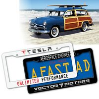 """Deluxe Car License Plate Frame w/2 Top Holes (12""""x6 1/4"""")"""
