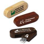Custom Eco Swing Wood Flash Drive GW (512 MB)