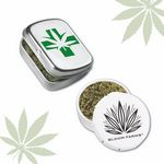 Custom Cannabis Round Pop-Snap Tin