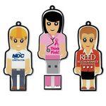 Custom USB 2.0 Mini Me Drive ME Flash Drive (512MB)