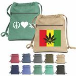 Custom BrandGear Mission Bay Cotton Canvas Backpack Cannabis