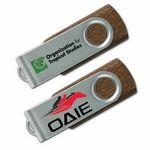 Custom USB 2.0 Wood Swing Flash Drive WS (512 MB)