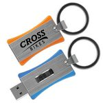 Custom iSlide Drive iX Sliding Flash Drive w/ Large Key Ring (1 GB)
