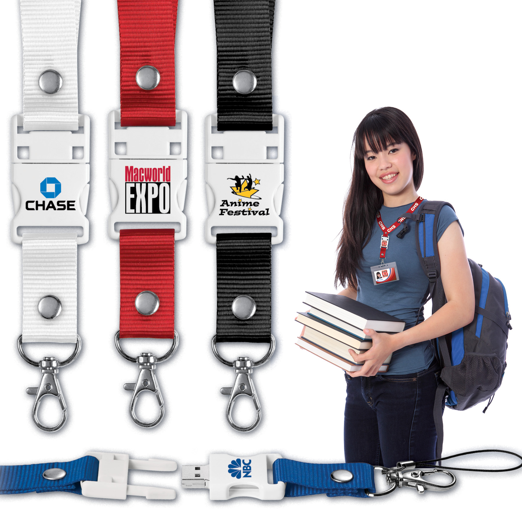 USB 2.0 Lanyard Drive™ LD Flash Drive (2 GB)