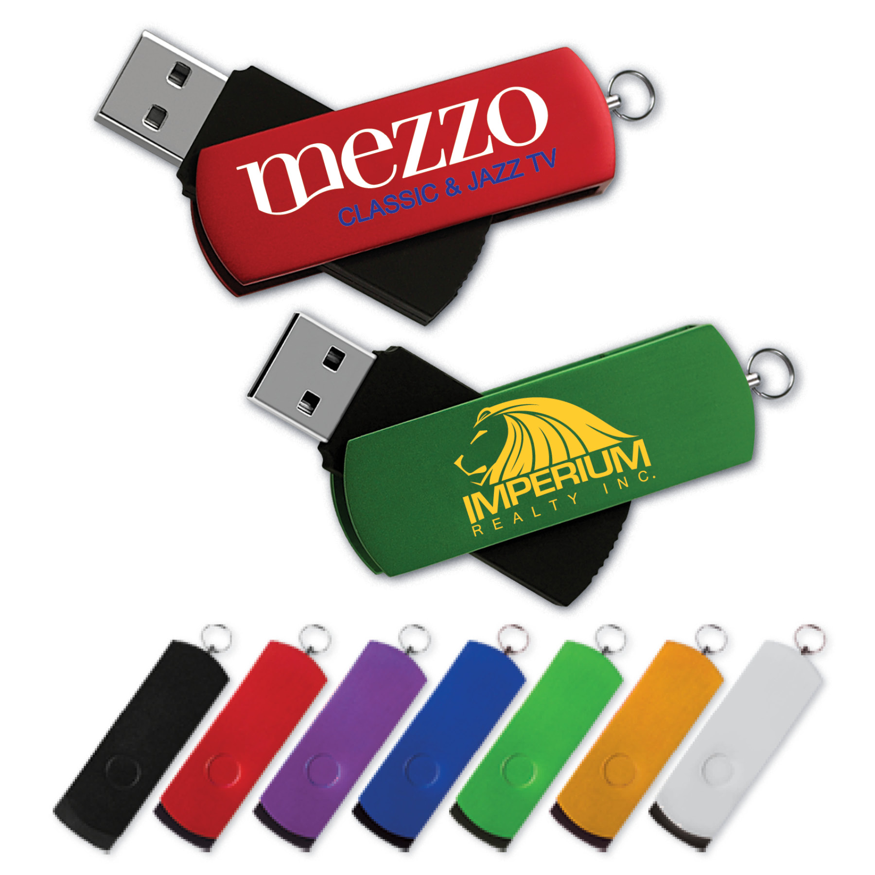 SuperSwing® Flash Drive SU w/ Aluminum Swivel Cover (4 GB)